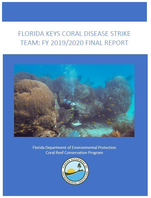 Florida Keys Coral Disease Strike Team report FY19-20